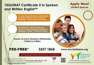 10363NAT Certificate II in Spoken and Written English (FEE-FREE*) Newmarket Brisbane North West Preview