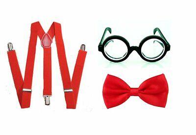 World Book Day Nerd Geek Kids Boys Girls School Show Fancy Dress Costume Outfit - Nerd Costume For Girls Kids