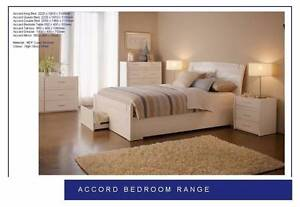 new WHITE BED FRAME (BEDROOM) 2 PACK high gloss EZI-PAY $14p/w Bundall Gold Coast City Preview