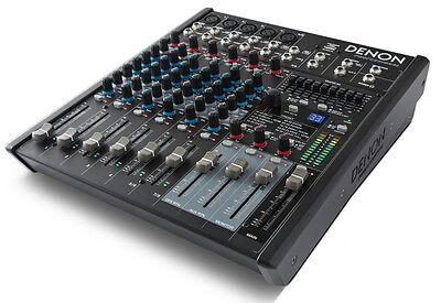 Denon Professional DN-408X 8 Channel 2 Bus Mixer USB 100 studio grade effects