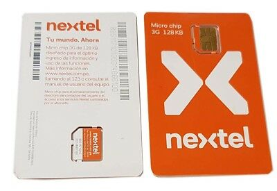 5 Lot Nextel Sim Card Micro Chip 3G 128KB (MCWAPE423041) Band New OEM segunda mano  Embacar hacia Argentina
