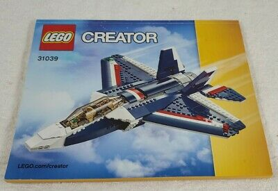 Lego Creator 3 in 1 Fighterjet 31039 Instructions Manual ONLY