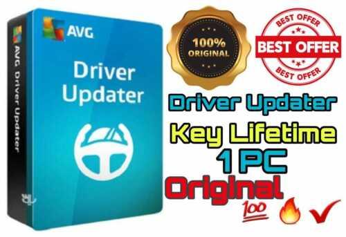AVG Driver Updater 2020 🔥 1 Year 🔥 1 PC 🔥 License Key Original  💯✅