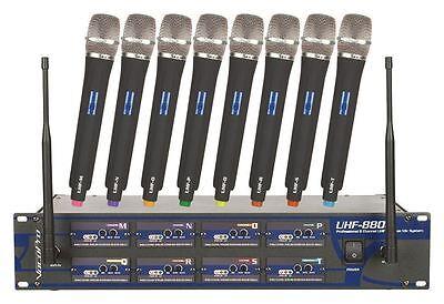 Vocopro UHF-8800 8 Channel Rack Mount Karaoke Wireless Microphone System
