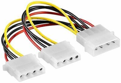 Cable Eléctrico Interno 4 Adaptador de Pin Molex Conector En 2x 4...