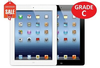 Apple iPad 3rd gen WiFi |16GB 32GB 64GB I Black or White | Grade C