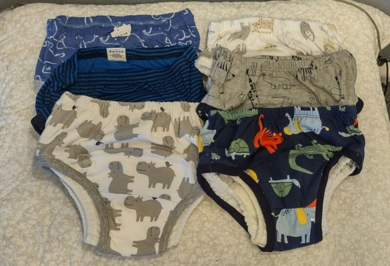(6) Cotton Absorbent Toilet Training Pants Toddler Potty Use Reusable Underwear