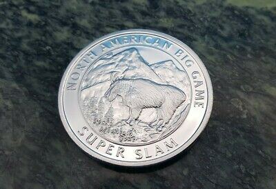North American NAHC Bison Big Game Super Slam Silver Plate Collector Coin