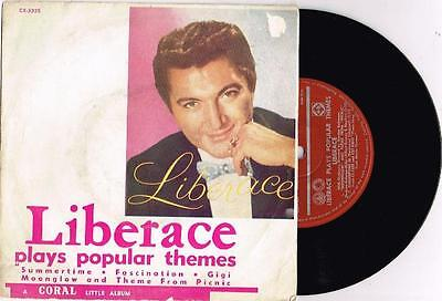 LIBERACE - LIBERACE PLAYS POPULAR THEMES - RARE 7