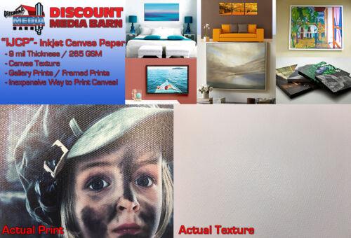 "Inkjet Canvas Textured Gloss Photo Paper - 24""x100"