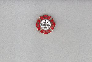 Fire Dept Maltese Cross/Fire Scramble Lapel Pin