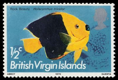 "VIRGIN ISLANDS 284 (SG330) - Rock Beauty ""Holacanthus tricolor"" (pf14166)"