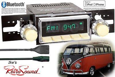 Retro Sound VW Bus/Transport/Ghia Long Beach-Iv Radio/BlueTooth/iPod/3.5mm AUX