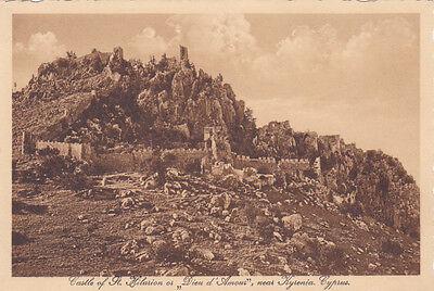 CYPRUS POSTCARD SAINT HILARION CASTLE PANORAMA GLASZNER 1920 S