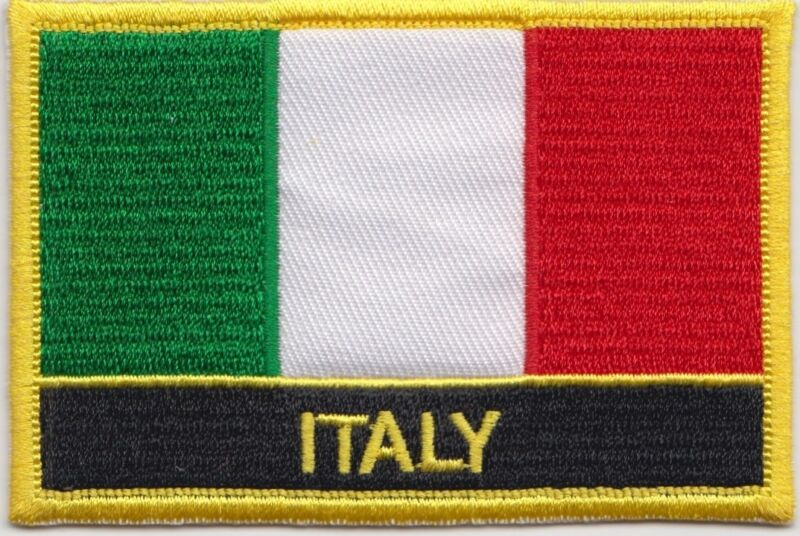Italy Flag Embroidered Patch - Sew or Iron on