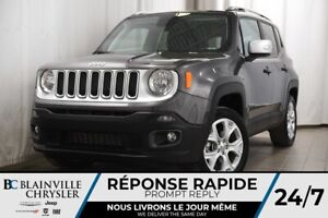 2018 Jeep Renegade LIMITED + 4X4 + TOIT + CUIR + MAGS + NAV