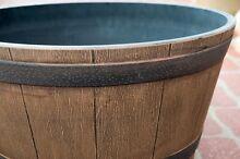 Outdoor Garden Plastic Round Half Wine Whiskey Barrel Plant Pot Kewdale Belmont Area Preview