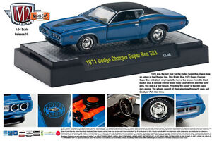 M2 MACHINES 1:64 SCALE DETROIT MUSCLE SERIES ISSUE #18 BLUE 1971 DODGE SUPERBEE