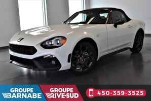 FIAT 124 Spider DÉCAPOTABLE ABARTH | TURBO + CUIR + ANGLES MORTS