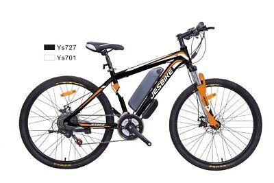 Mountain bike MTB, bici elettrica, Jesbike, nera-arancio, 7velocità