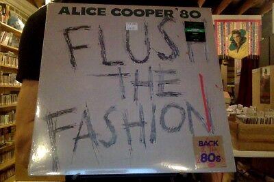 Alice Cooper Flush the Fashion LP new green swirl colored vinyl Back to the 80's