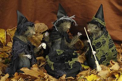3 Hexen Topi + Calderone Della Strega Decorazione Halloween, Hexen Scopa Strega