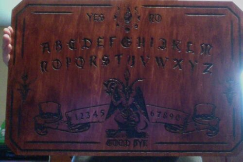 Large wooden ouija board baphomet HANDMADE Large