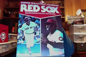 BOSTON RED SOX 1976 YEARBOOK SECOND EDITION NEW