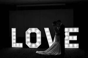 1.3m Love Lights HIRE for Weddings or Engagments Perth Region Preview