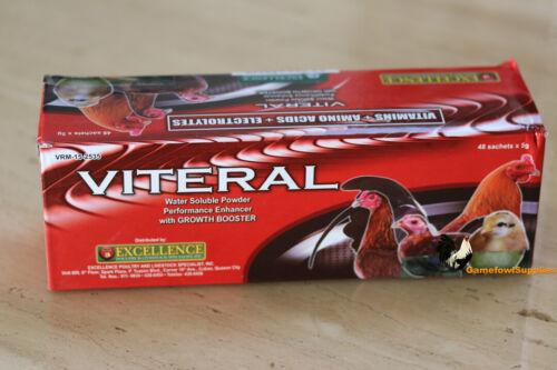 Viteral (FULL BOX 48 Packs) - Poultry: (Vitamins + Amino Acids + Electrolytes)