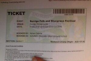 Three Day Ticket to Dorrigo Music Festival (w/ camp) + Ride Offer Nambucca Heads Nambucca Area Preview