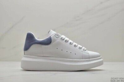 Alexander McQueen Sports shoes Men and Women styles white shoes blue US 8=EUR 41