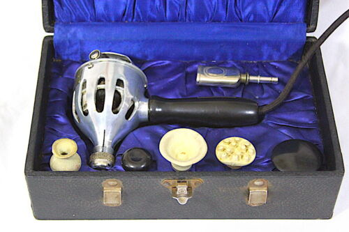 """Antique Electric """"THE ROYAL VIBRATOR"""" Massager - PA Geier - WORKS 1920s w Extras"""