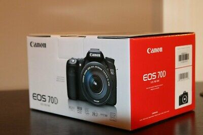 NEW Canon EOS 70D 20.2MP Digital SLR Camera - Black (Body Only)