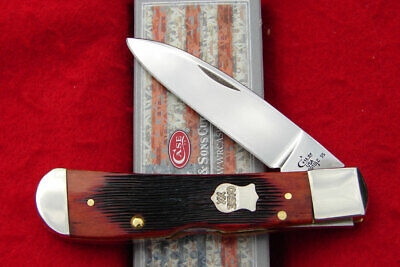 Case XX USA - Barnboard Jigged Chestnut Bone Tribal Lock Knife - 22875 Tony Bose