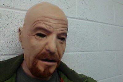 Walter White Mask Heisenberg Halloween Fancy Dress Costume Full Head SECONDS - Walter White Halloween Masks
