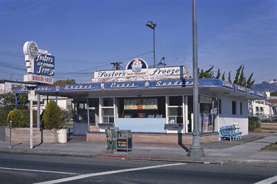 Foster's Freeze Soft Serve Hamburger Stand Los Angeles CA 1977 View 8x12 (Foster Photograph)