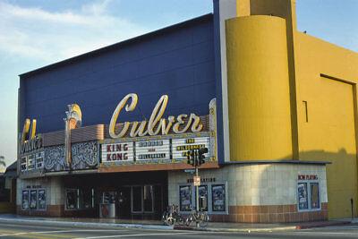 Culver Movie Theater Marquee Sign Culver City CA 1977 View 8x12 (Culver City 12)