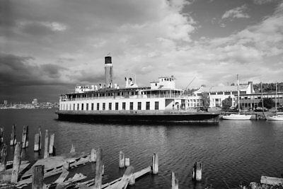 SS San Mateo Steam Ferry at Lake Union Seattle WA 1986 View 8x12 photo