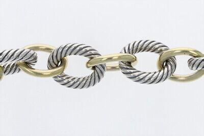 David Yurman Extra-Large Oval Link Bracelet 18k Yellow Gold and Sterling Silver David Yurman Gold Bracelet