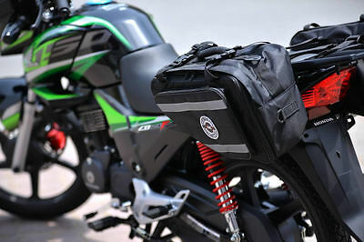 RAC3  Saddle Bags Set of 2 Expandable Throw Over Panniers Motorcycle TRL Luggage