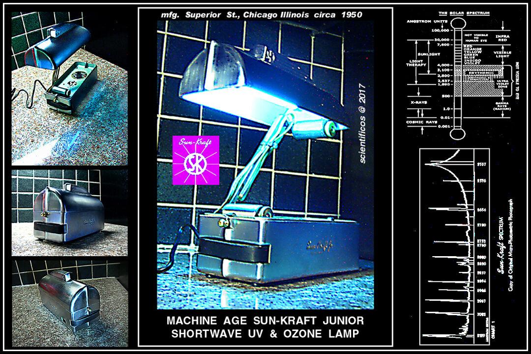SUN-KRAFT JUNIOR Machine Age Shortwave UV & Ozone Generator - Chicago circa1950