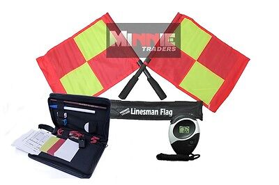 Deluxe Wallet Set (Brand New Deluxe Flag Set with Referee data Wallet & Digital Stopwatch (SW005))