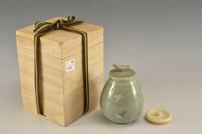 Tea Caddy Ceremony Chaire Pottery Ware Sado Japanese Traditional Crafts c229