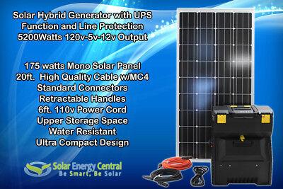 Portable Solar Generator 2000w 100ah Agm Battery 200w Solar Panel