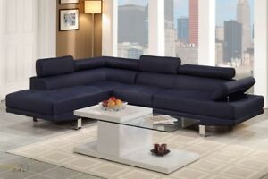 Sectional couch blue