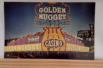 GOLDEN NUGGET CASINO, LAS VEGAS, NEVADA, RARE POSTCARD UNPOSTED