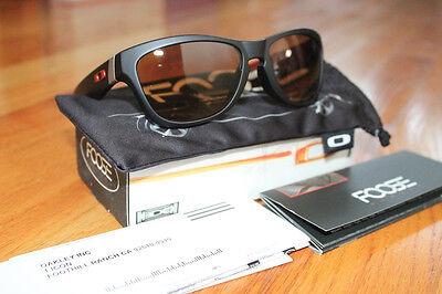 Oakley New Sunglasses Chip Foose Serie Jupiter Special Matte Black Bronze 24-174