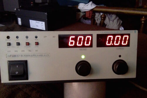 Glassman LVP 600-1.7 power supply Xantrex