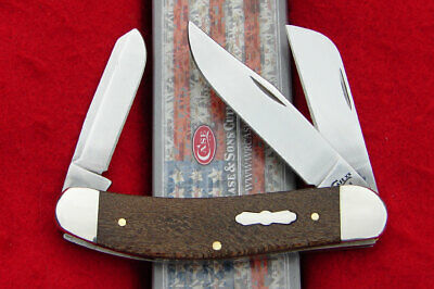 Case XX USA - Smooth Brown Sycamore Wood Sowbelly Knife - 27267 Tony Bose